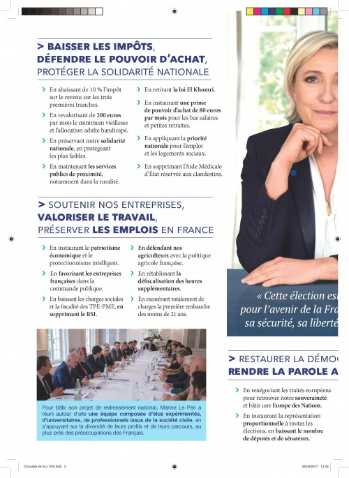 Profession de foi Marine Le Pen 2