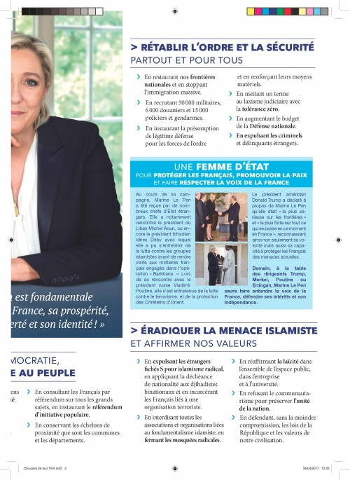 Profession de foi Marine Le Pen 3