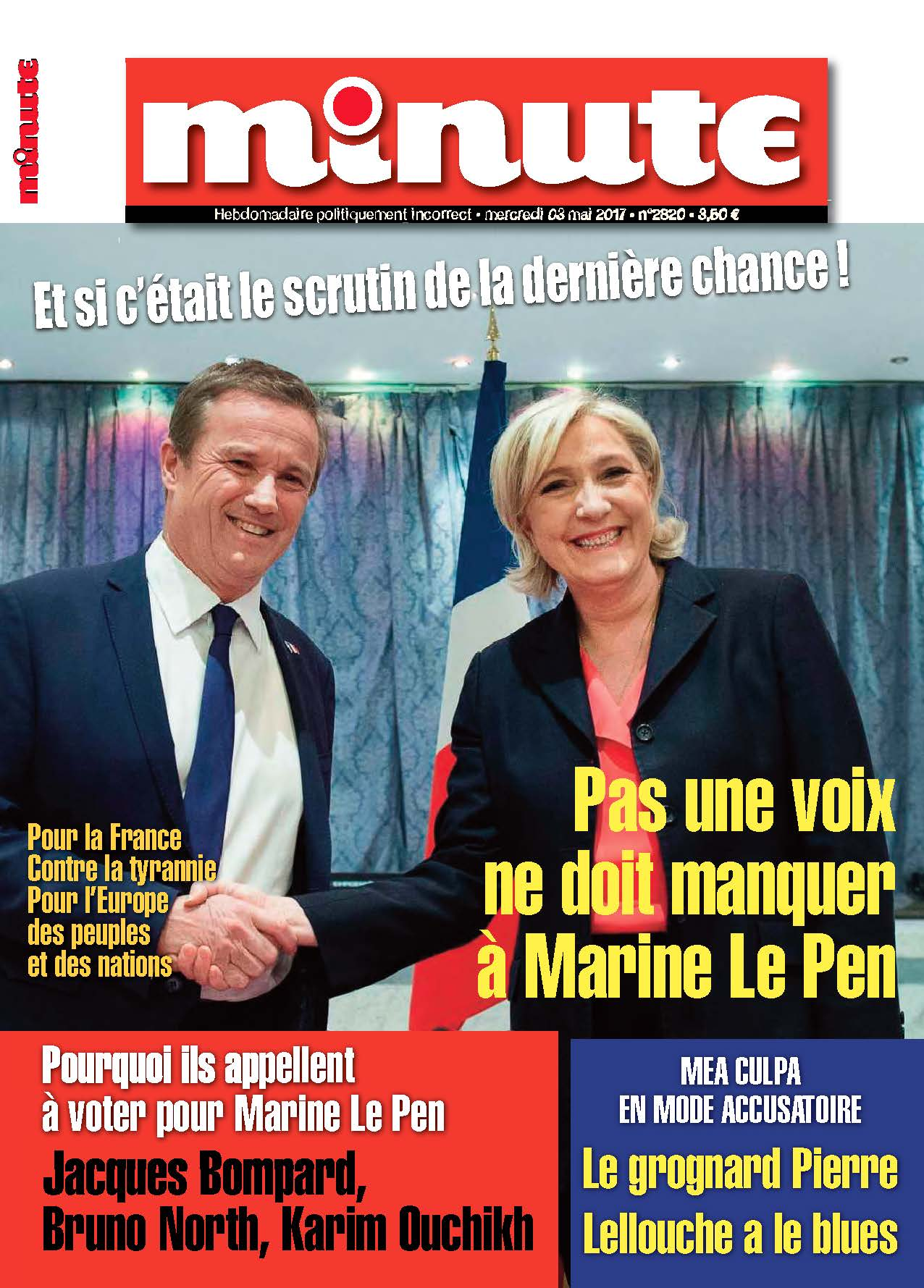 Minute Marine Le Pen second tour