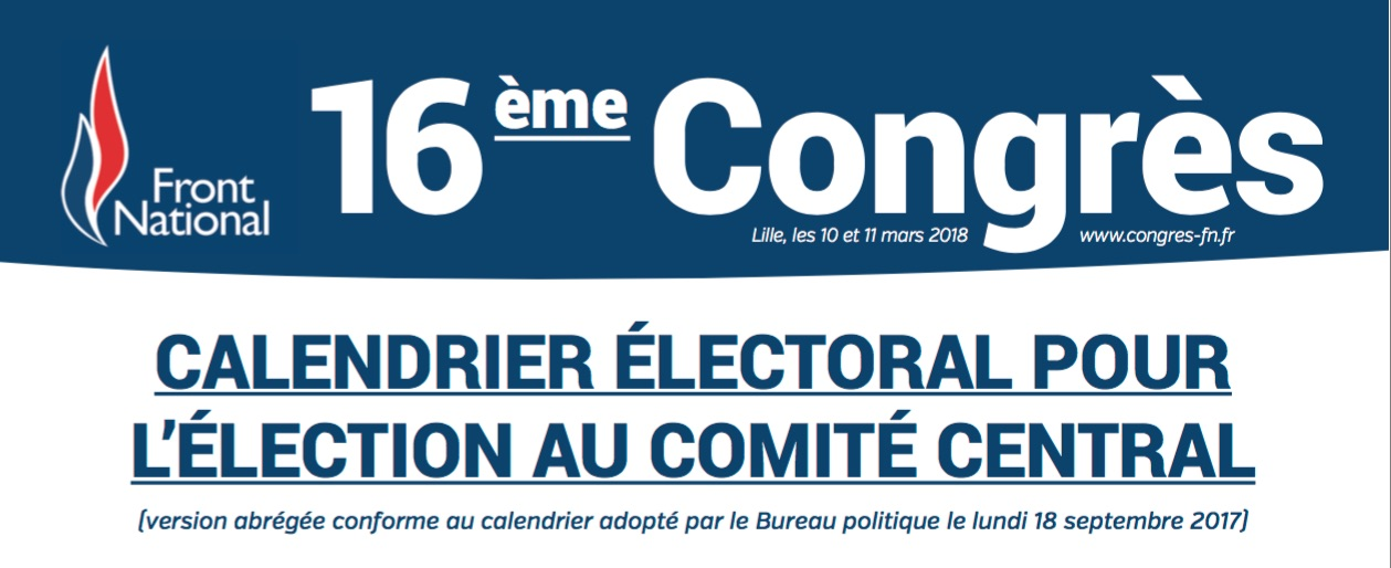 EXCLUSIF Le Front national lance l'élection de son prochain comité central